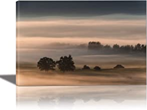 EuroGraphics Dense Fog Over The Hollow Painting Artwork for Home Decor Framed 24x36 inches Canvas Wall Art 24 x 845, 833 x...