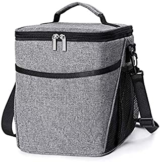 Insulated Lunch Box Lunch Bag for Men Women Adults, 9L Thermal Bento Bag,Vtopmart Upgraded Reusable Leakproof Large Capaci...