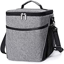 Insulated Lunch Box Lunch Bag for Men Women Adults, 9L Thermal Bento Bag,Vtopmart Upgraded Reusable Leakproof Large Capacity Cooler Bag for School/Work/Picnic/Travel & Outdoor