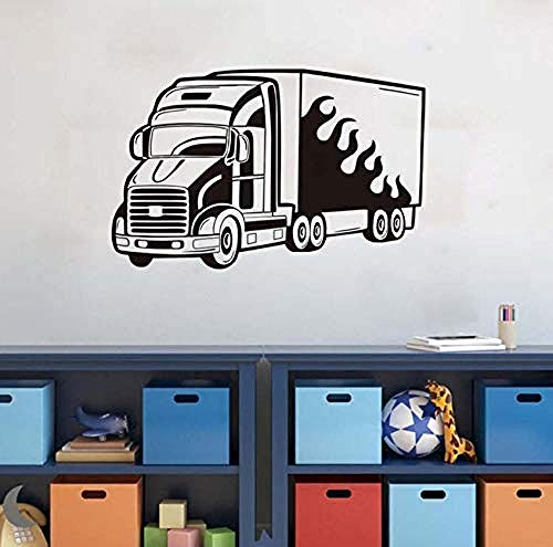 Pegatinas Pared Murales Mural Kindergarten Truck Home Cartoon Traffic 69X44cm