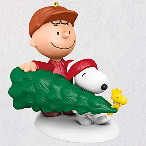 Hallmark Keepsake Christmas Ornament 2020, The Peanuts Gang Charlie Brown, Snoopy and Woodstock The Perfect Tree
