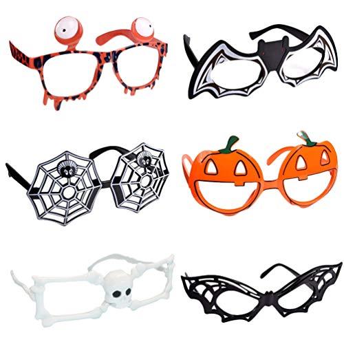 STOBOK 6 gafas de Halloween con forma de esqueleto para Halloween, 6 estilos
