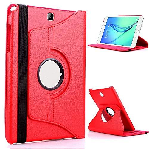 RZL Pad & Tab Custodie per Huawei MediaPad M3 8.4 Pollici, Tablet Case 360 Staffa Rotante Staffa a Flip Cover in Pelle per Huawei MediaPad M3 8.4 Pollici BTV-W09 BTV-DL09 (Colore : for 360 Red)