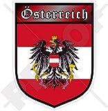 ÖSTERREICH Österreichisch Schild 100mm Auto & Motorrad Aufkleber, Vinyl Sticker