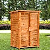 Arcón para exterior Gabinete de madera al aire libre de la herramienta de prueba de agua Armario Balcón Caja de herramientas de jardín Patio Caja de almacenamiento Gabinete de almacenamiento para jard