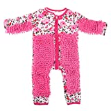 MagiDeal Baby Strampler + Wischmop, Unisex Overall Jumpsuit Babykleidung zum Krabbeln - Rosa, 85 cm
