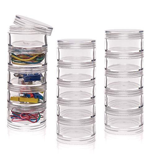 Baker Ross Stapelbare Dosen mit Schraubdeckel (3 Stück) – für Kinder zur Aufbewahrung von Bastelmaterial