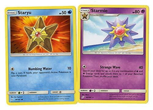Sun Moon Team Up - Evolution Set - Starmie 65/181 - Staryu 28/181 - Rare Card Lot