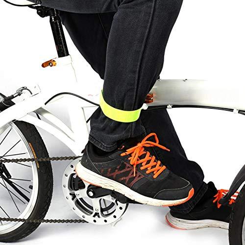 Marvvdy 20 Bandas Reflectantes para Brazo, muñeca, Tobillo, Pierna. Bandas reflectoras. Correr Reflectante de Alta Visibilidad para Mujeres y Hombres Ciclismo Bicicleta para Caminar(Verde Claro)