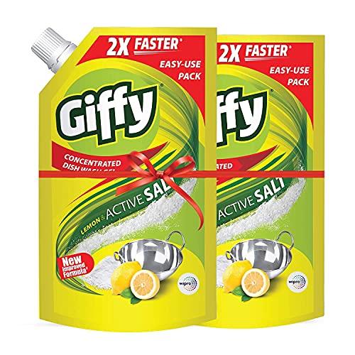 Giffy Lemon & Active Salt Concentrated Dish Wash Gel