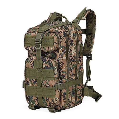 YHHX 3Dリュックオックスフォード布バックパックアウトドアアドベンチャー戦術迷彩バックパック屋外防水バックパックレトロなバックパック迷彩戦術的なバックパッククライミングバッグバックパック,Armygreencamouflage