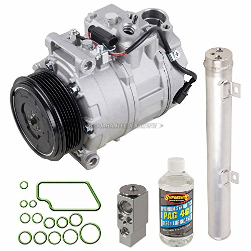 AC Compressor & A/C Kit For Mercedes ML350 ML500 ML550 GL450 GL550 R350 R500 - Includes Drier, Expansion, Oil & O-Rings - BuyAutoParts 60-81541RK NEW
