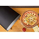 Horno de pizza a gas portátil con piedra para pizza de 12 pulgadas y cáscara de pizza plegable - Kit de parrilla de pizza a gas de acero inoxidable con sistema de rotación automática