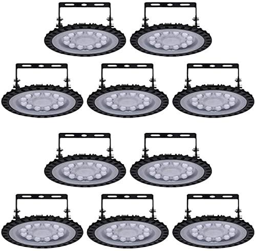 Lámpara industrial LED UFO de 50 W, SMD 2835, 5000 lúmenes, IP65, resistente al agua, lámpara de interior, iluminación de taller, luz blanca fría 6000-6500 K