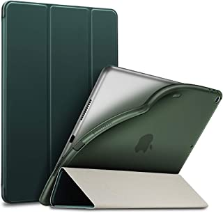 ESR iPad Air 2019 ケース iPad Air3 10.5インチ ソフトカバー TPU 耐衝撃 傷防止 オートスリープ機能 軽量 薄型 三つ折りスタンド スマートカバー 2019年発売の10.5インチ iPad 対応(ダークグリーン)