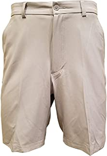 Cypress Club Flat Front Golf Shorts Mens (Ivory, 34)