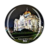 Palacio de Bellas Artes Ciudad de México - Imán para nevera, regalo de recuerdo de cristal para nevera