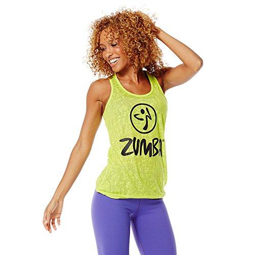 Zumba Atmungsaktives Trainings-Tanktop für Damen X-groß Hellgrün