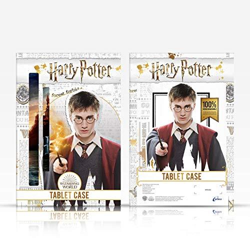 Head Case Designs Offizielle Harry Potter The Marauder's Map Prisoner of Azkaban II Leder Brieftaschen Handyhülle Hülle Huelle kompatibel mit Samsung Galaxy Tab A 10.1 2019