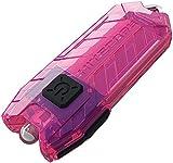 Nitecore Tube Tiny Keychain USB 45 lm Rechargeable LED Flashlight, Pink, Left/Right