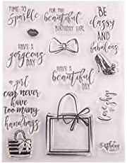 Happy Birthday Handbag Gifts sentiments Stamps Rubber Clear Stamp/Seal Scrapbook/Photo Album Decorative Card Making Clear Stamps