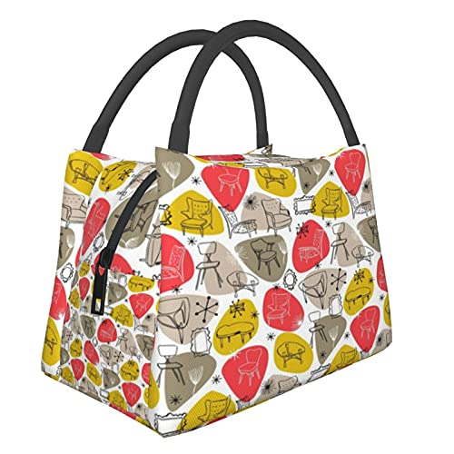 ATO_mic Tragbare isolierte Tasche mit Uhren, Einkaufstaschen für Lebensmittel, faltbar, waschbar, multifunktional