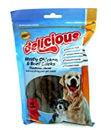Delicious Meaty Chicken & Beef Dog Treats/Snacks x 20 Sticks - Resealable Pack