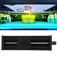 𝐂𝐡𝐫𝐢𝐬𝐭𝐦𝐚𝐬 𝐆𝐢𝐟𝐭 スライドリニアテーブル、ネジスライドリニアテーブルアルミ合金3Dプリンター彫刻機リード2mmブラック/シルバー(450mm-ブラック)