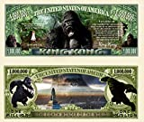 Anime Source King Kong Skull Island Jungle Novelty Million Bill with Semi-Rigid Protector