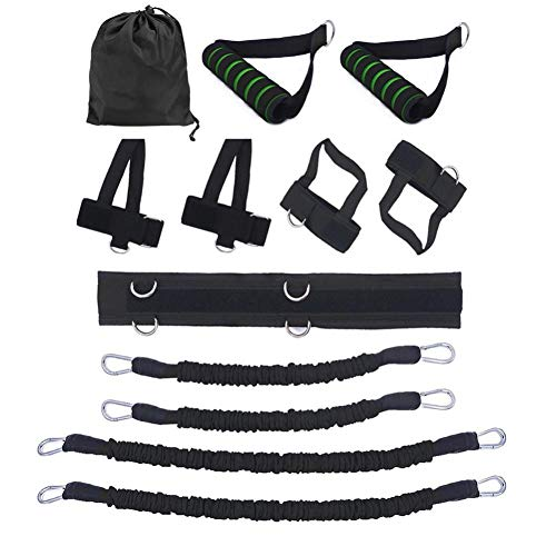 Lankater Körper-Widerstand-bänder Set, 150kg Geschwindigkeit Beweglichkeit Training Kraft Jump Trainer MMA Box Trainings-Widerstand-Band-Set