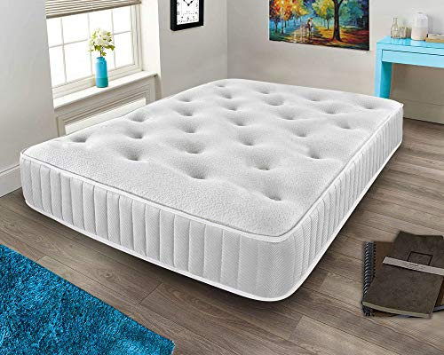 Mattress-Haven Sprung Memory Foam Mattress, Sprung Mattress With A Layer Of Memory Foam Memory Foam Mattress Knitted Stretch Micro Quilted Fabric6FT - Superking Mattress