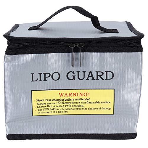 Gedourain Bolsa Protectora de batería, Bolsa de batería Incombustible Antideflagrante para Transportar baterías LIPO