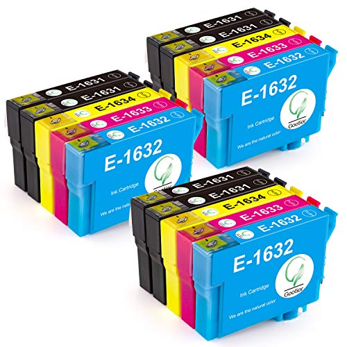 Gootior 16XL Compatibili Cartucce Epson 16 XL, Compatible per Epson Workforce WF-2630 WF-2760 WF-2510 WF-2530 WF-2520 WF-2540 WF-2750 WF-2660 WF-2650 WF-2010 (6 Nero,3 Ciano,3 Magenta,3 Giallo)