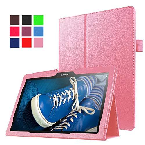 Tablet-Schutzhülle für Lenovo Tab 2 A10-30 A10-70 A10-70F A10-70L X30F 10.1 Abdeckung mit Smart Sleep Wake Up-Funktion-Roze