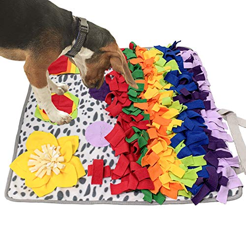 SCHITEC Snuffle Mat for Dogs, Nosework Feeding Blanket Sniffing Pad...