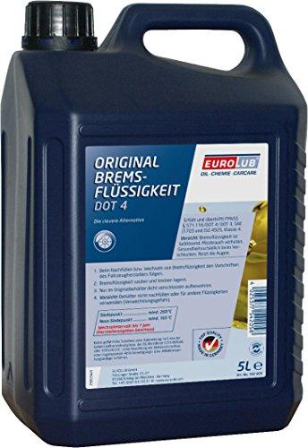 EUROLUB Bremsflüssigkeit DOT4, 5 Liter