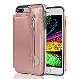 WE LOVE CASE iPhone7 plusケース カード収納 背面ケース iphone7 plus ケース 財布型 PUレザ……