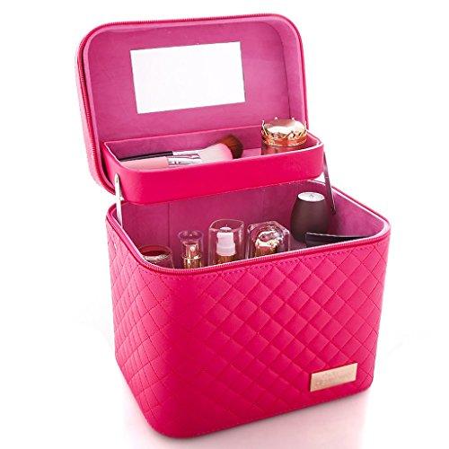 Boîtes cosmétique Sac cosmétique de Grande capacité Sac Multifonctionnel de Rangement portative cosmétique Simple Multicolore 24 * 17.5 * 20.5 cm à Bijoux et présentoirs
