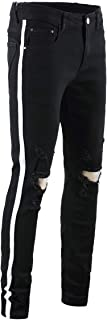 Men's Ripped Distressed Stretch Jeans Pants