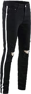 QZH.DUAO Men's Jeans Denim Pants with Stripes