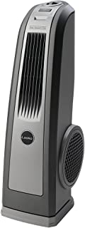 Lasko 4924 Space-Saving HVB Oscillating High Velocity Blower Tower Fan Features Louvered Air Flow Control and Built-in Handle, 1-Pack, Silver (Renewed)