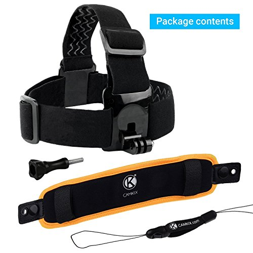 CamKix 2in1 Floating Wrist Strap & Headstrap Floater Compatible with GoPro Hero 8 Black, Hero 7, 6, 5, Black, Session, Hero 4, Hero+ LCD, 3+, 3 and DJI Osmo Action
