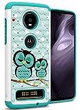 CoverON 2019 Hybrid Bling Aurora Serie für Motorola Moto Z4 Hülle, Eulenmotiv