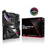 ASUS ROG X570 Crosshair VIII Hero (Wi-Fi) ATX Motherboard with PCIe 4.0, on-Board WiFi 6 (802.11Ax), 2.5 Gbps LAN, USB 3.2, SATA, M.2, Node and Aura Sync RGB Lighting