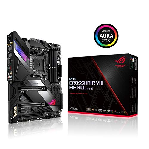 Asus ROG X570 Crosshair VIII Hero (Wi-Fi) ATX Motherboard with PCIe 4.0, on-Board WiFi 6...