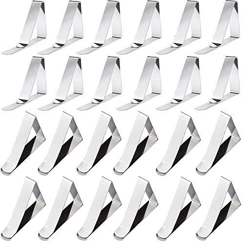 Nsiwem Tischdeckenklammer 24 Stück Tischtuchklammern Edelstahl Outdoor Tischdecke Clips Tischtuch Klammer Garten Tischtuchhalter zum Klammer Befestigen der Tischdecke für dick 2,5-4,5 cm Desk top