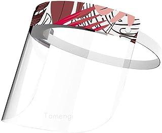 Verano palmera hoja plátano protector transparente máscara protectora reutilizable ajustable anti-saliva cubierta de cara completa 1/2/5/10 piezas, talla única, Palmera de verano hoja de plátano, 10