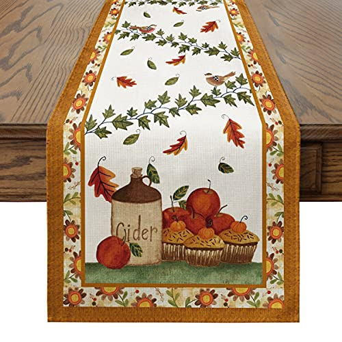 Artoid Mode Runner da tavola per l'autunno, in stile vintage, lavabile in cucina, per interni ed...