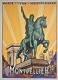 Montpellier Kunstdruck Poster, Format 50 x 70 cm, Papier