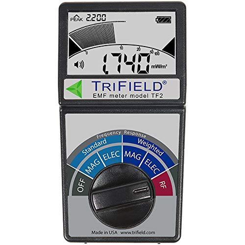 RFandEMF Trifield, misuratore di campi elettrici e magnetici, modello TF2, con custodia nera in EVA